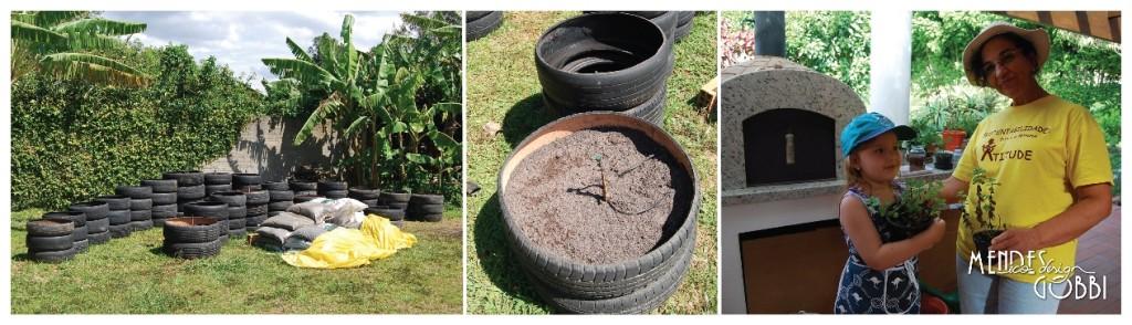 Horta pronta para o plantio em um domingo ensolarado