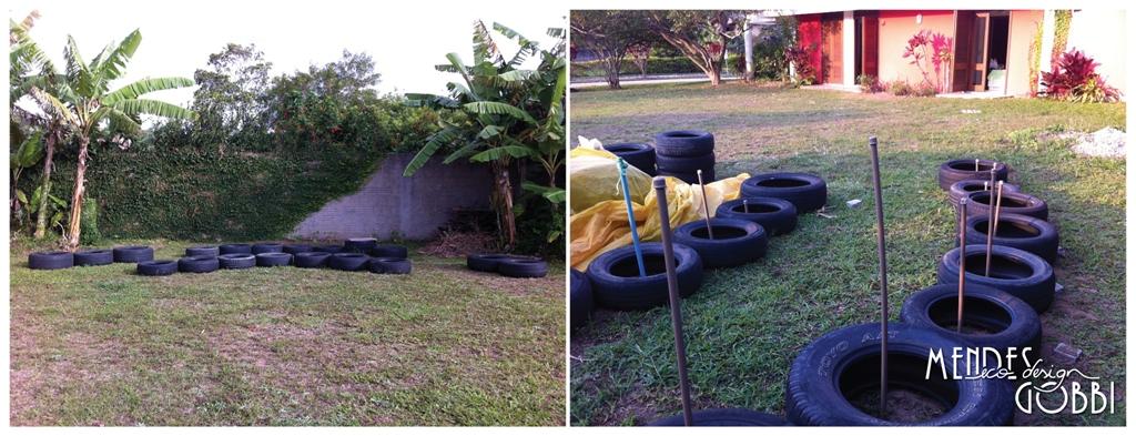 Locação dos pneus | Iniciando a irrigação