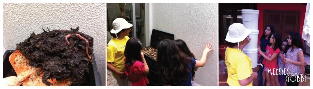 Minhocas trablhadeiras encantam as crianças | Outro modelo de lixeira viva (menor)